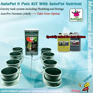 HYDROPONICS AUTOPOT 8 POTS AUTO FEEDING SYSTEM & SPECIALLY SUITED NUTRIENT