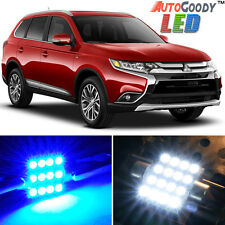 6 x Premium Blue LED Lights Interior Package 13-17 Mitsubishi Outlander + Tool