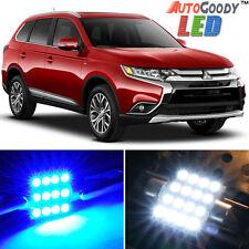 6 x Premium Blue LED Lights Interior Package 13-17 Mitsubishi Outlander + Tool