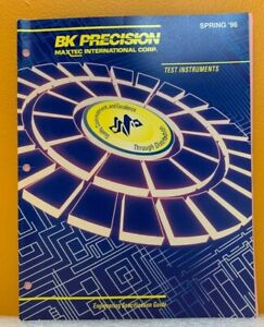 BK Precision / Maxtec 1995 Engineering Specification Guide (Catalog).