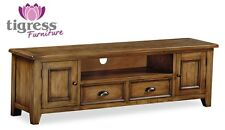 Pine Entertainment Media Console Tables Stands