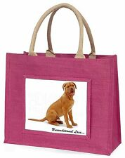 Dogue De Bordeaux-With Love Large Pink Shopping Bag Christmas Presen, AD-DB1uBLP