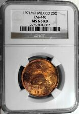 1971 Mexico 20 Centavos - NGC MS-65 RD
