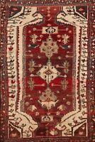 Tribal Semi-Antique Bakhtiari Geometric Hand-knotted Area Rug Wool Oriental 4x5