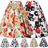 PLUS SIZE Retro Summer Skirts 50s 60s Vintage Swing Dance Dress Cheap