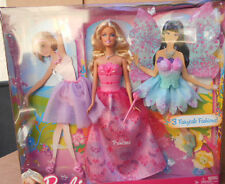 2011 Barbie And 3 Fairytale Fashions * New
