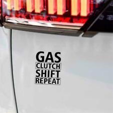 Gas Shift Clutch Repeat Drift Fun Window Bumper Vinyl JDM Sticker 12.9CMx 16.5CM