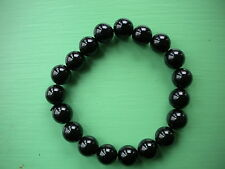 black obsidian large power bracelet 10 mm