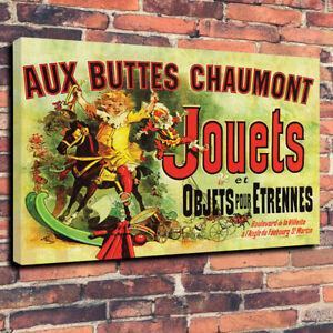 Aux Buttes Chaumont Jouets Friends Printed Canvas Picture Multiple Sizes
