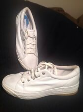Women's KEDS STRETCH CHAMPION WF9437M WHITE LEATHER ATHLETIC SNEAKERS 8M Shoes