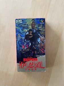 Super Inindo Dato Nobunaga CIB Nintendo Super Famicom JAP SNES SFC Top Condition