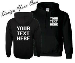 ADULTS CUSTOM PERSONALISED HOODY add your own text / design UNISEX work business