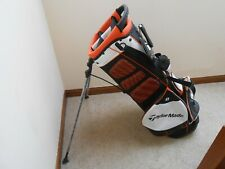 TaylorMade Pure-Lite Stand Golf Bag, White/Black/Orange
