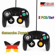 2 X Original ? Nintendo GameCube Control Pad Schwarz GC Controller DE?