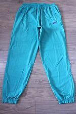 S61 Vtg NIKE 90s Men Track Pant Trousers Green Football Retro Oldschool Size L