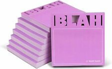 8 Pack Knock Knock Blah Die Cut Sticky Notes Cute Sticky Notes 3 X 3 Inches