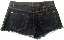NEW - NWOT - RRP $219 - Womens Stunning Ksubi 'GLAM MINI SHORT' Denim Shorts
