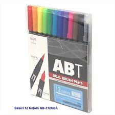 TOMBOW ABT Dual Brush Pens Blendable 2 tips Basic Colors 12-Piece-Set AB-T12CBA