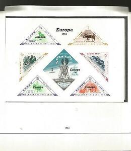 Lundy islan europa 1961 un foglietto e 20 francobolli nuovi perfetti