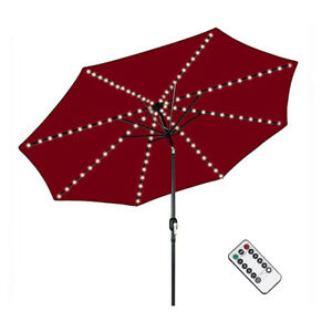 Umbrella Parasol String Lights 104 LED Battery Operated Light + Remote Control
