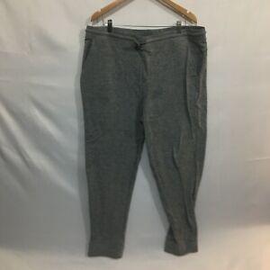 Athletic Works Mens Gray Drawstring Regular Fit Joggers Pants Size 2XL 44-46