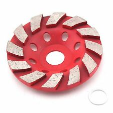 "4"" inch Diamond Grinding Cup Wheel Disc Arbor 3/4"" - 5/8"" Grinder Concrete Brick"