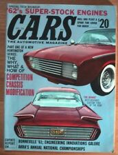 CARS 1962 JAN - NEW SUPER STOCK ENGINES