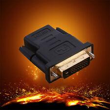 DVI 24+1 To HDMI Female HDMI Male Cord Video Cable Converter Audio Adapter Hot