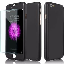 360 iPhone Ultra Slim Case Cover No-Slip w/Tempered Glass For iPhone 6S 7 8 Plus