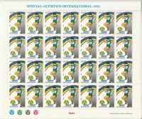 1991 PAKISTAN SPECIAL OLYMPIC FULL SHEET OF 28 STAMPS DISABLE HANDICAP UMM.