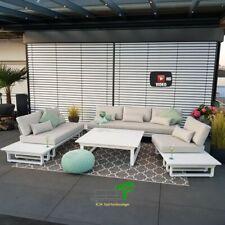 ICM Gartenlounge Menton Aluminium weiß Gartenmöbel Outdoor Lounge Modul Set Alu