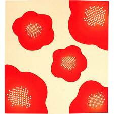 Furoshiki Made in japan Camellia Flower  Wrapping cloth Fabric kimono Red ivory