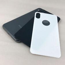 iPhone X Schutzglas für Rückseite Back Hinten Schutz 5D Full Cover 9H SILBER OVP