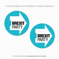 2 x The Brexit Party Stickers - Leave Means Leave EU -100mm x 100mm -  SKU5716