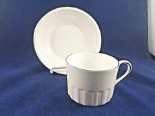 "Wedgwood COLOSSEUM PLATINUM Cup & Saucer 2 1/4"""