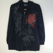 Avenue, Tees 2 Please, Womens Hoodie / Jacket, Red Rose & Shiny Bling, 18/20 L