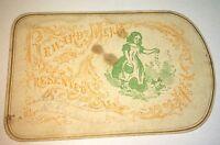 Rare Antique Victorian American Reward of Merit! Farm Girl Feeding Chickens! US!