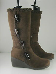 """new  Brown 3""""Wedge Heel Round Toe Sexy Mid-Calf Boot  WOMEN Size 10"""