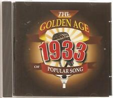 THE GOLDEN AGE OF POPULAR SONG 1933 CD - SOLOMON, STORMY WEATHER & MORE