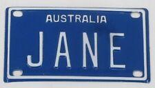 JANE NOVELTY NAME MINI TIN AUSTRALIAN LICENSE NUMBER PLATE