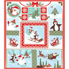 """Moda JOY Laughing All The Way Snow 36"""" x 44"""" Fabric Panel by Kate Spain"""