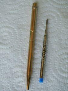 Sheaffer stylo bille Targa vintage pen ballpoint gold plated