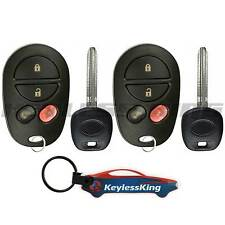 2 Remote Key Fob Set for 2004 2005 2006 2007 2008 2009 2010 Toyota Sienna
