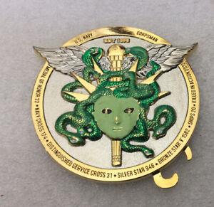 Medusa of Greek Mythology snakes medic  Challenge Coin - Corpsman Coin  octopus