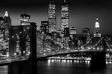 "NEW YORK CITY ""BROOKLYN BRIDGE AT NIGHT "" Poster 40"" X60"" Subway Poster NEW"