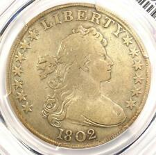1802 Draped Bust Silver Dollar $1 - Certified PCGS Fine Details - Rare Coin!