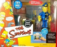 THE SIMPSONS PLAYMATES ENVIROMENT WOS POLICE STATION OFFICER EDDIE FIGURE MIP