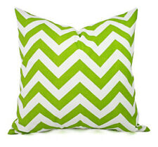 Green White Chevron Throw Pillow Cover - Decorative Home Zipper Case Geometric