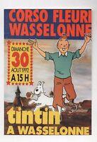 Carte postale Tintin. TINTIN A WASSELONNE 1992. Tirage limité. ETAT NEUF