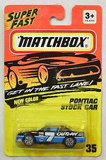 MATCHBOX 1993  PONTIAC STOCK CAR #35 BLACK